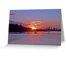 Sunset Forster NSW Australia Greeting Card