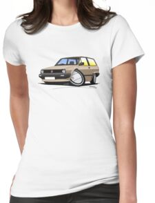 VW Polo (Mk2) Beige Womens Fitted T-Shirt