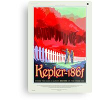 Colorful Vintage Astronauts on Exoplanet Metal Print