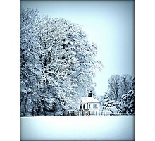 llynon house in snow Photographic Print