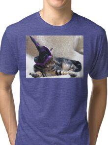 Hocus Pocus Kitty Focus Tri-blend T-Shirt