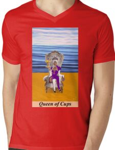 QUEEN OF CUPS Mens V-Neck T-Shirt