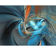 Edible blue Photographic Print