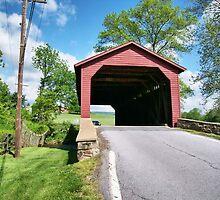Utica Covered Bridge by James Brotherton