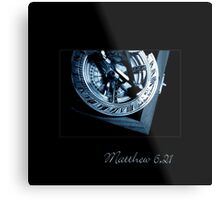 The Only True Blue Compass Metal Print