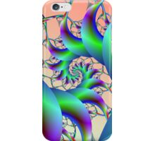 Spiral in Green and Purple iPhone Case/Skin