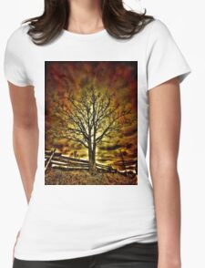 Creepy Tree Womens Fitted T-Shirt