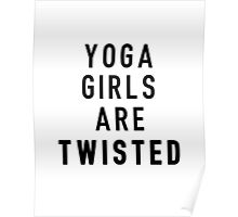 Twisted Yoga Girls Poster