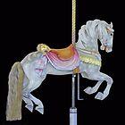 White Dappled Carousel Horse by Cindy Longhini