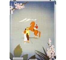 Vintage Horse and Golfers Merano Italy Travel iPad Case/Skin