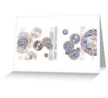Cytology of Creation Abstract Greeting Card