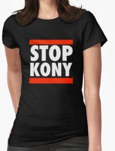 STOP KONY 2012 RUN DMC Womens Fitted T-Shirt