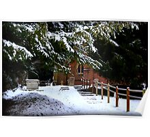 snowy church yard  Poster