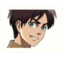 Eren Jaeger from Attack on Titan Art Print