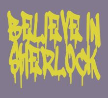 Believe in Sherlock Kids Clothes