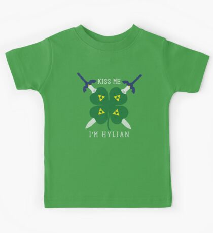 Kiss Me I'm Hylian Kids Tee