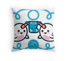 The Narwhal- Nature's Knitter! Throw Pillow