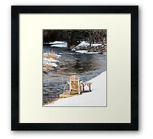 Compelled by the Stream Framed Print