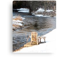 Compelled by the Stream Metal Print