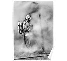 Firefighter (mono) Poster