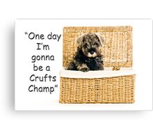 Riley becomes a champion at crufts 2012 Canvas Print