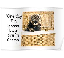 Riley becomes a champion at crufts 2012 Poster