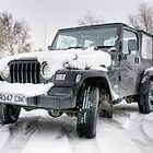 Jeep in the Snow by Eddie Howland