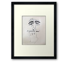 no comment . . .  Framed Print