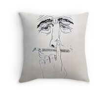 no comment . . .  Throw Pillow