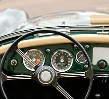 1959 MG A 1600 Roadster Steering Wheel by Jill Reger