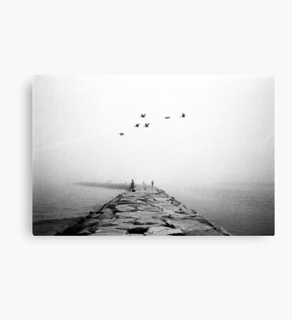 Foggy Jetty Canvas Print