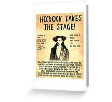 Wild Bill Hickock Greeting Card
