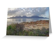 Morning Hazards - Freycinet Peninsula, Tasmania Greeting Card
