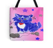 Fantasy and unique blue kitty Tote Bag