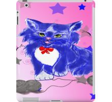 Fantasy and unique blue kitty iPad Case/Skin