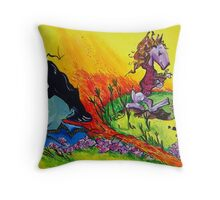 'Dont bury your body in the flowers!' Throw Pillow
