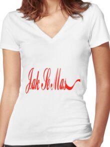 Jak Se Mas Women's Fitted V-Neck T-Shirt