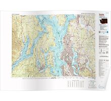 USGS Topo Map Washington State WA Seattle 243652 1992 100000 Poster