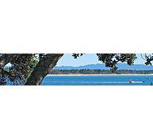 slice view of Matakana Island from the Mount Photographic Print