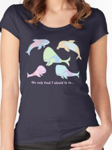 Pastel Whales - save the whales! Women's Fitted Scoop T-Shirt