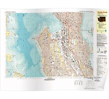USGS Topo Map Washington State WA Seattle South 243624 1983 25000 Poster