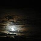 Cloudy Full Moon by Joan Wild