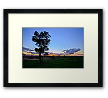 End of the day. Framed Print