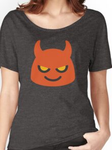 EMOJI DEVIL Women's Relaxed Fit T-Shirt