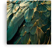 Feather Glitter Canvas Print