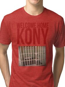 "Kony T-Shirt - Kony 2012 ""Welcome Home"" Tri-blend T-Shirt"