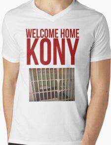 "Kony T-Shirt - Kony 2012 ""Welcome Home"" Mens V-Neck T-Shirt"