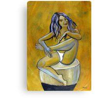 Woman posing Canvas Print