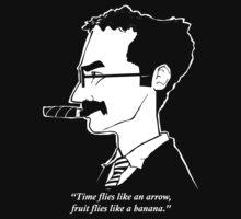 Groucho Marx flies like a t-shirt by severodan
