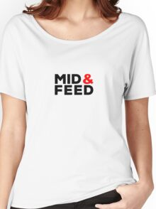 Mid AND Feed - red accent Women's Relaxed Fit T-Shirt
